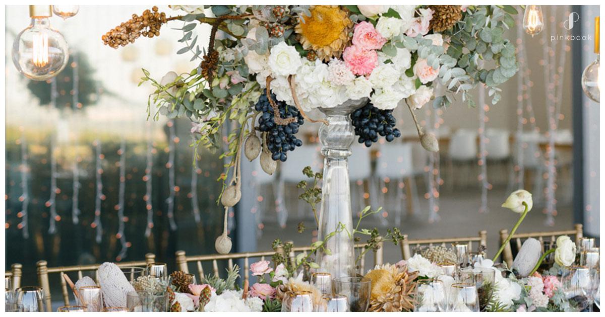grape wedding centrepieces