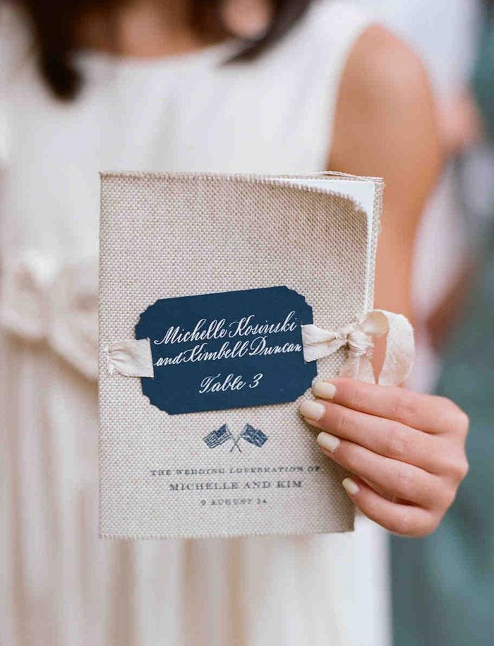 Hessian Jute Wedding Program