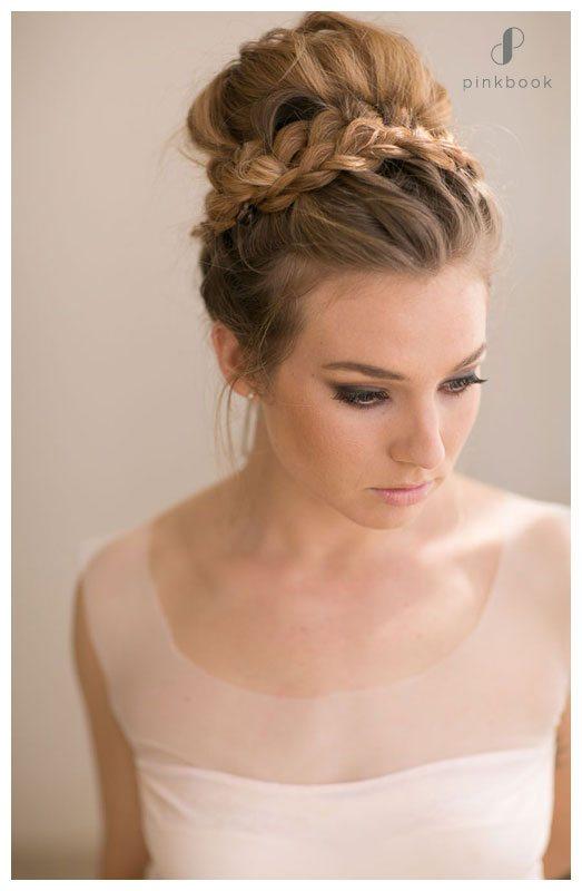 high wedding bun hairstyle