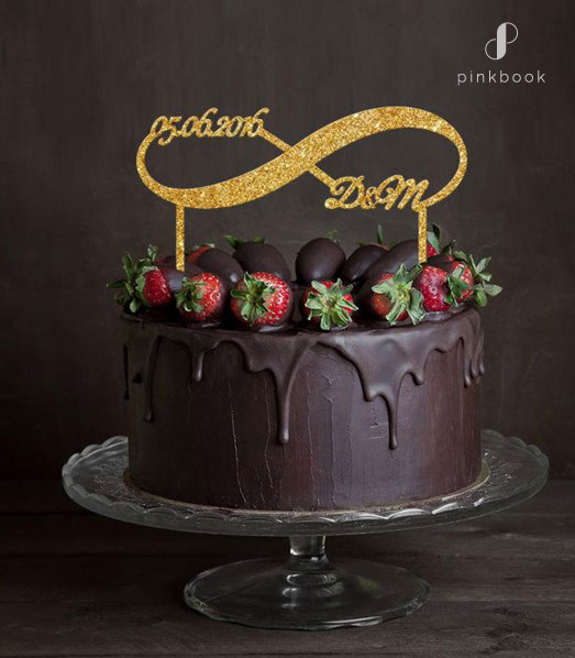 infinity wedding cake topper