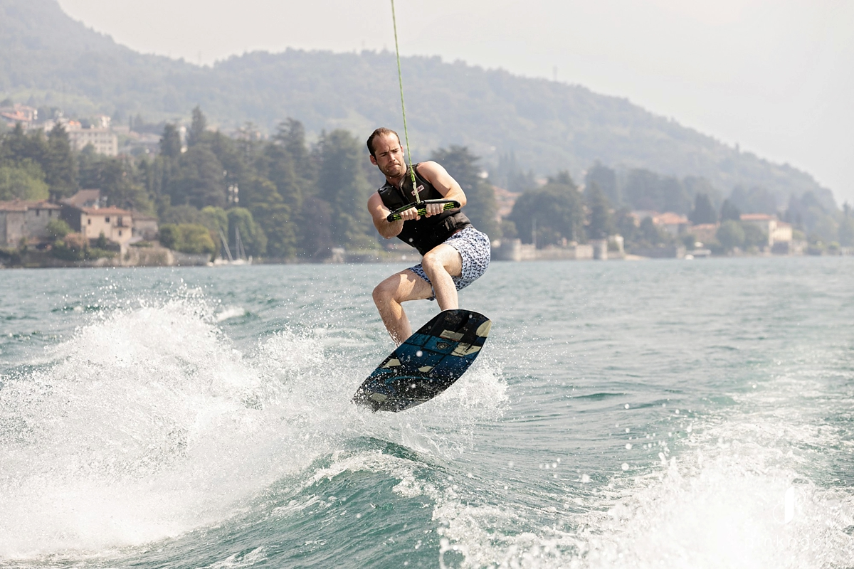 wake boarding lake como