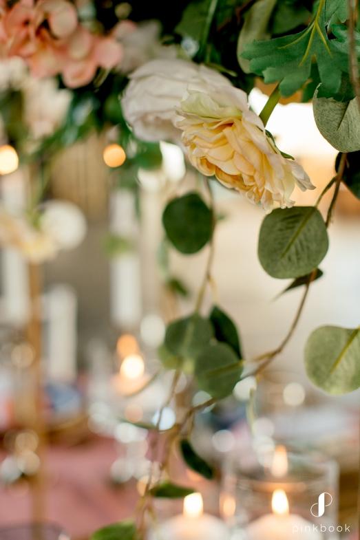 Cream and Peach Wedding Flowers