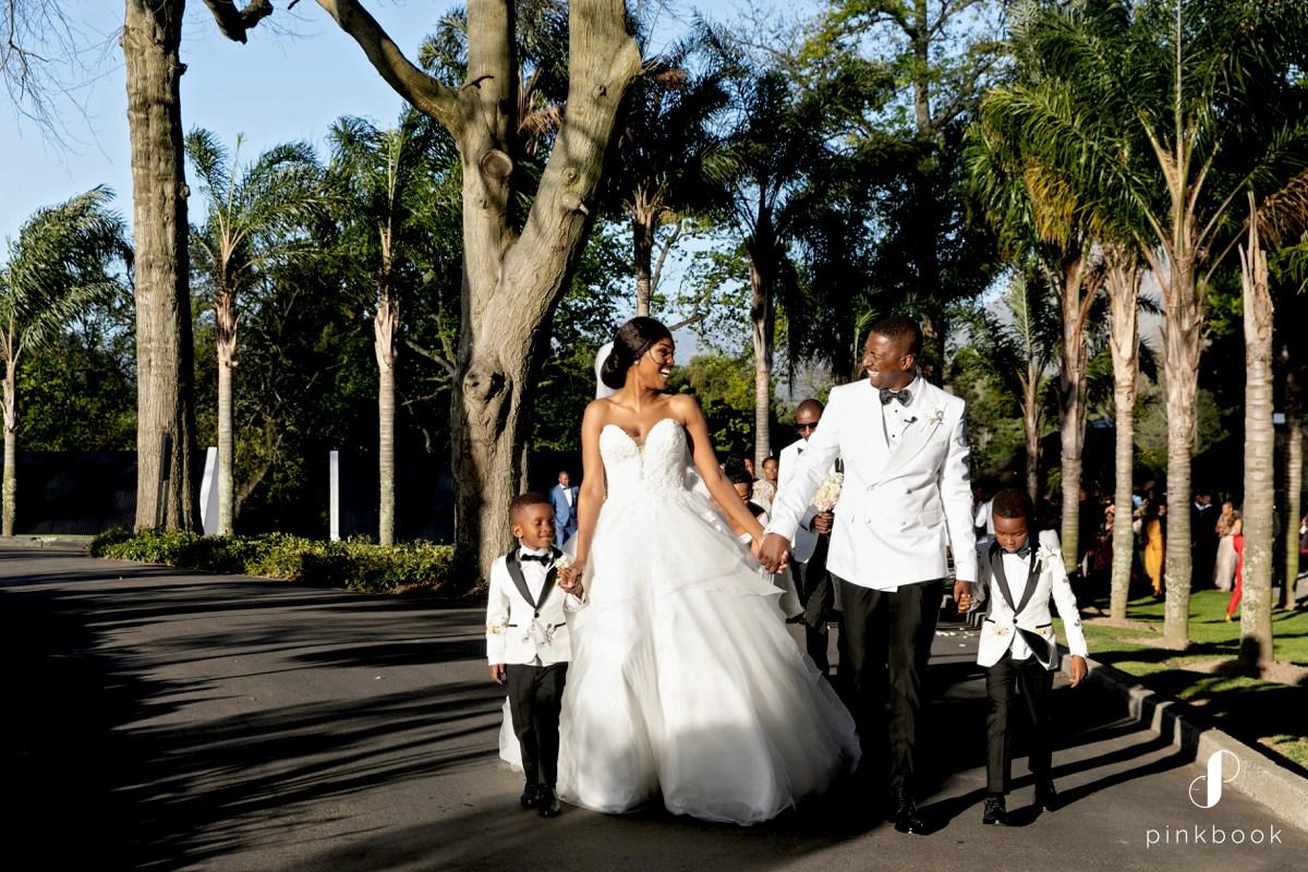 Wedding Couple and Kids