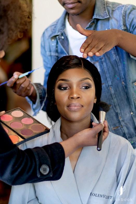 African Bride Makeup