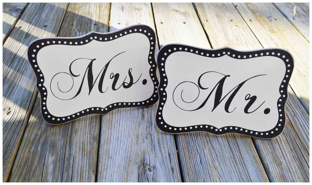 Mr and Mrs Surname hitched