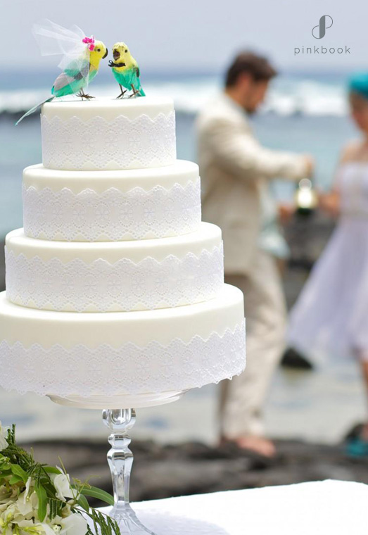 parrots wedding cake topper