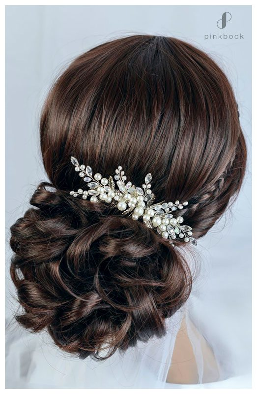 pearl wedding hairstyle