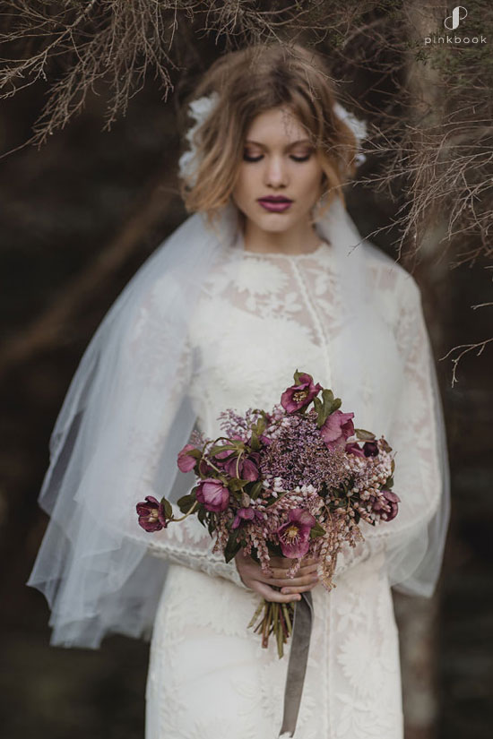 Purple Mauve Flower Bouquet