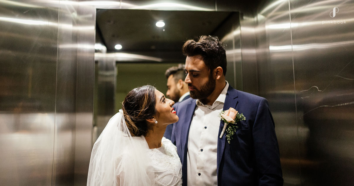 quirky wedding photo