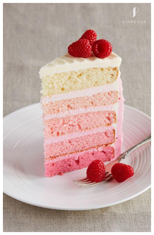Raspberry Ombre Wedding cake flavours