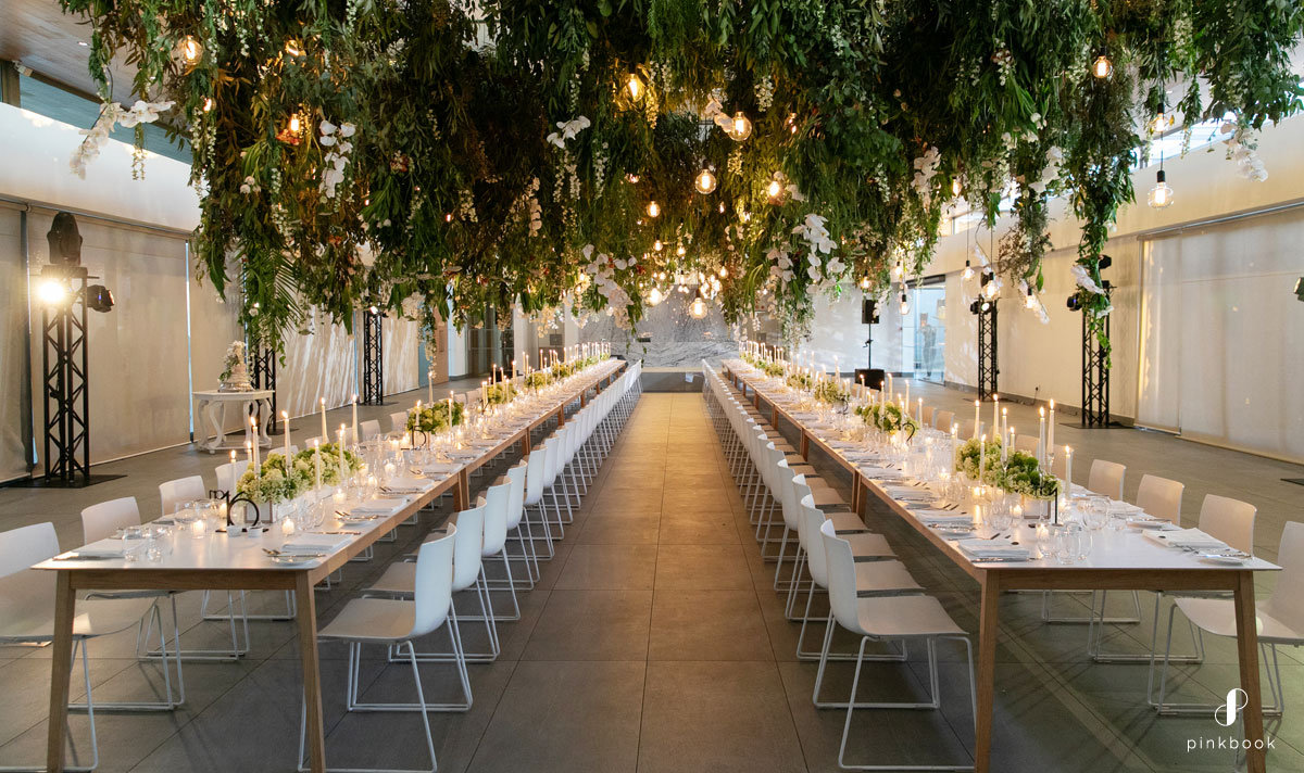 rectangular table layout for wedding