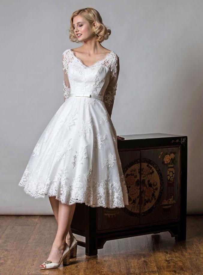 Rita Mae Bridal Tea Dress