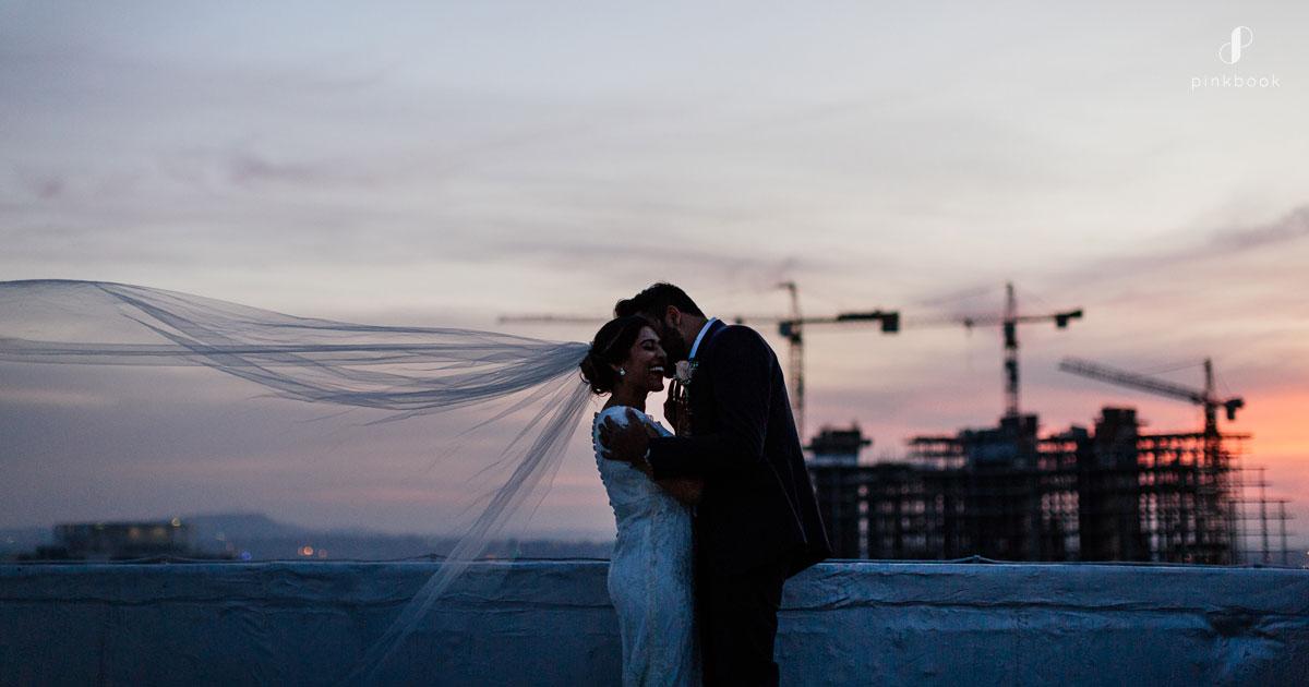 rooftop wedding photography