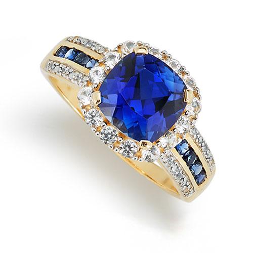 Gold Sapphire Ring American Swiss