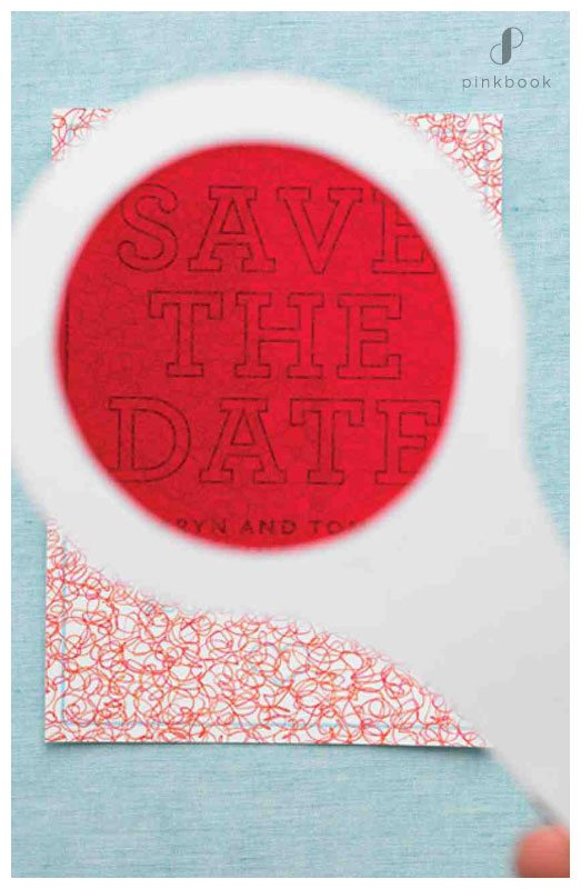save the date magnifier invitations