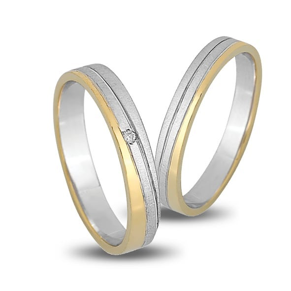 silver gold wedding rings