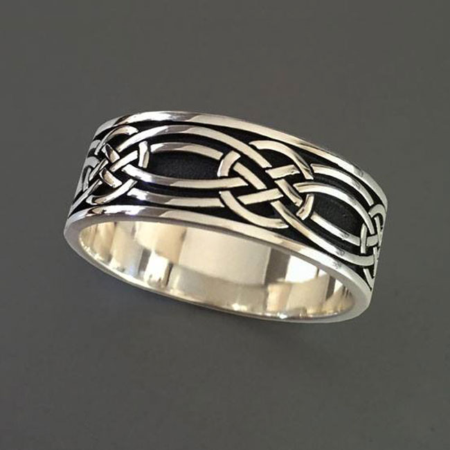 stainless steel celtic wedding ring