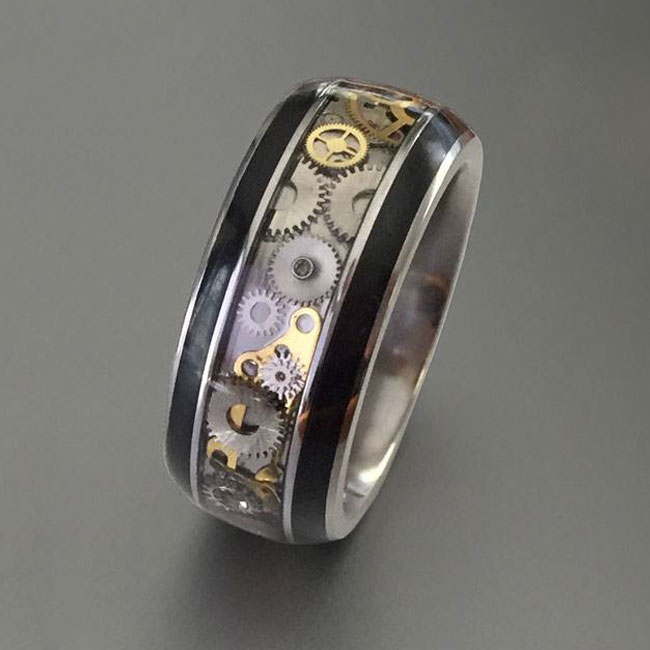 steampunk ring for men