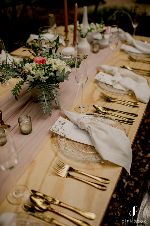 forest table decor