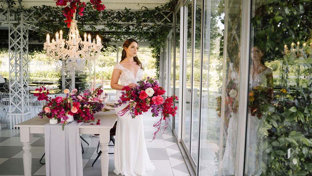 Bougainvillea Flower Styled Shoot