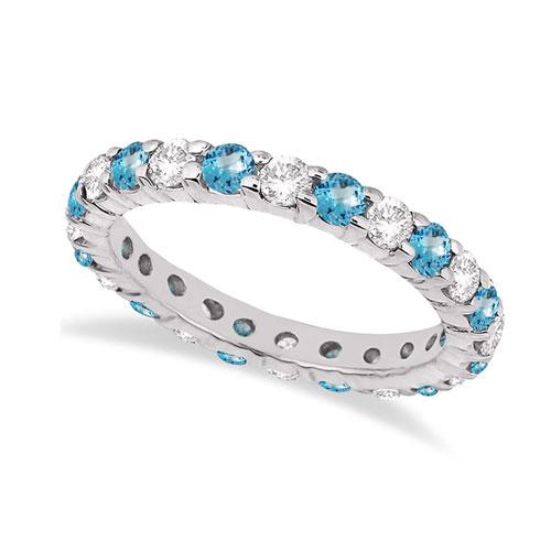 Topaz Diamond Halo Ring