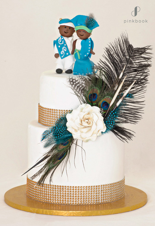 traditional african wedding cake topper