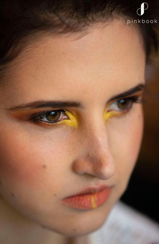 unique bright yellow wedding makeup ideas