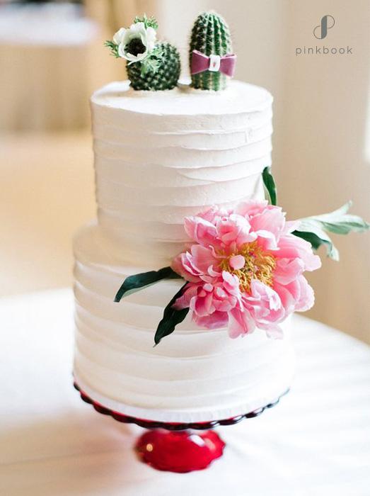 unique cactus wedding cake topper