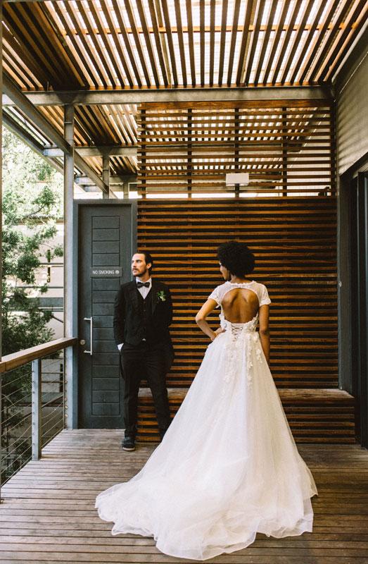urban wedding fashion shoot