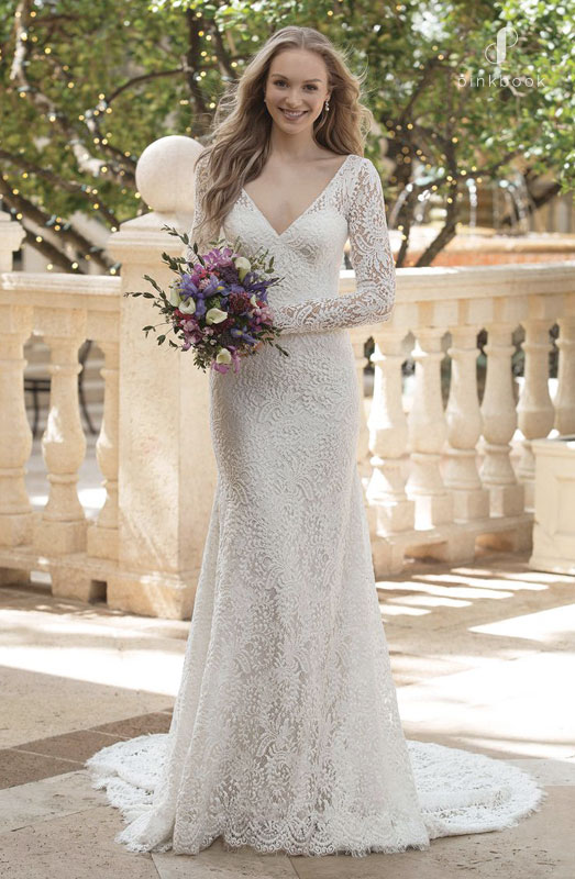 Vintage Full Lace Wedding Gown