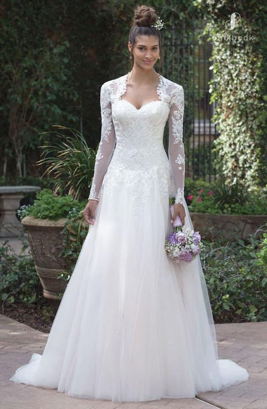 Vintage Lace Long Sleeve Wedding Dress
