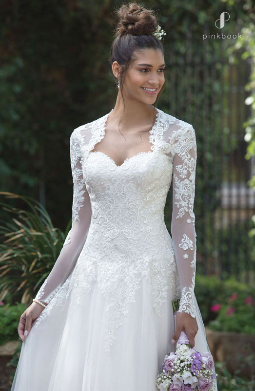 Lace Long Sleeve Wedding Gown