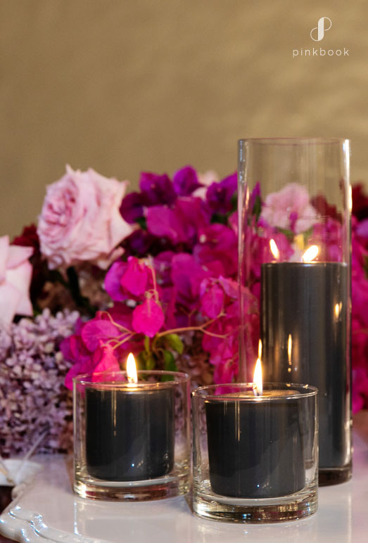 wedding decor black candles