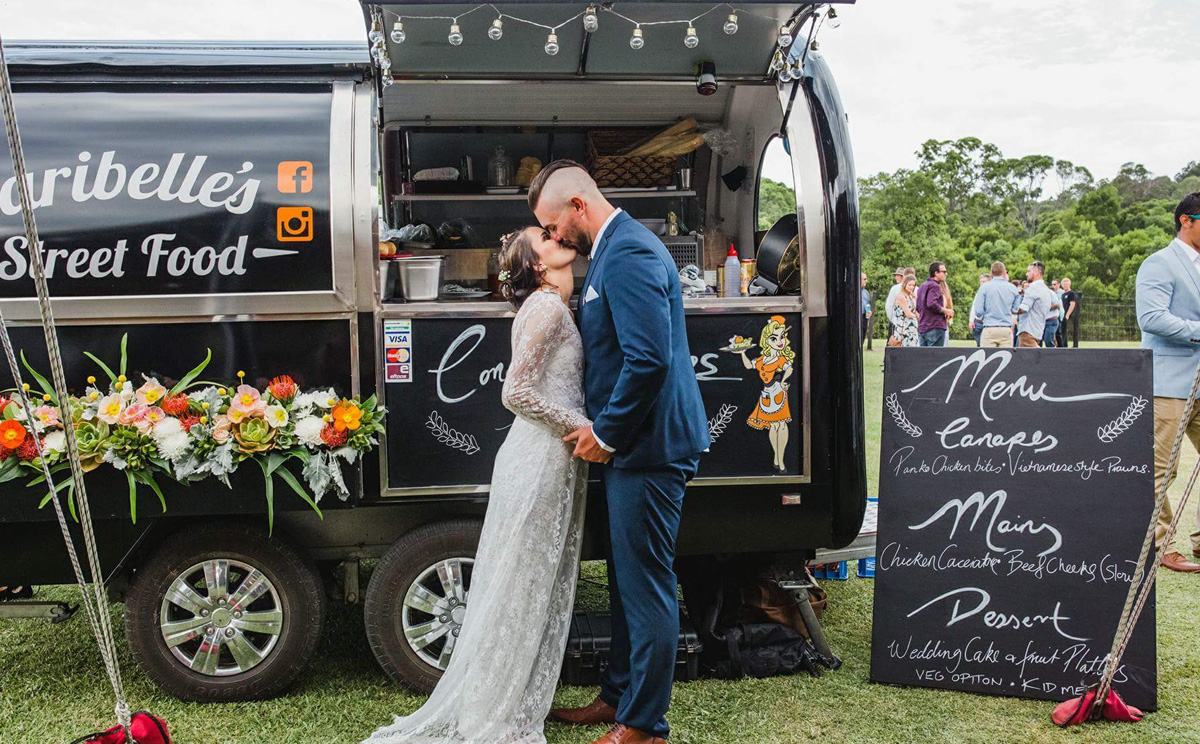wedding food cart hire