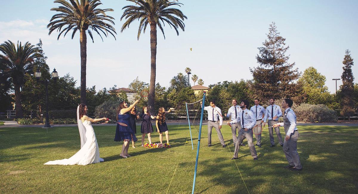 wedding games badminton