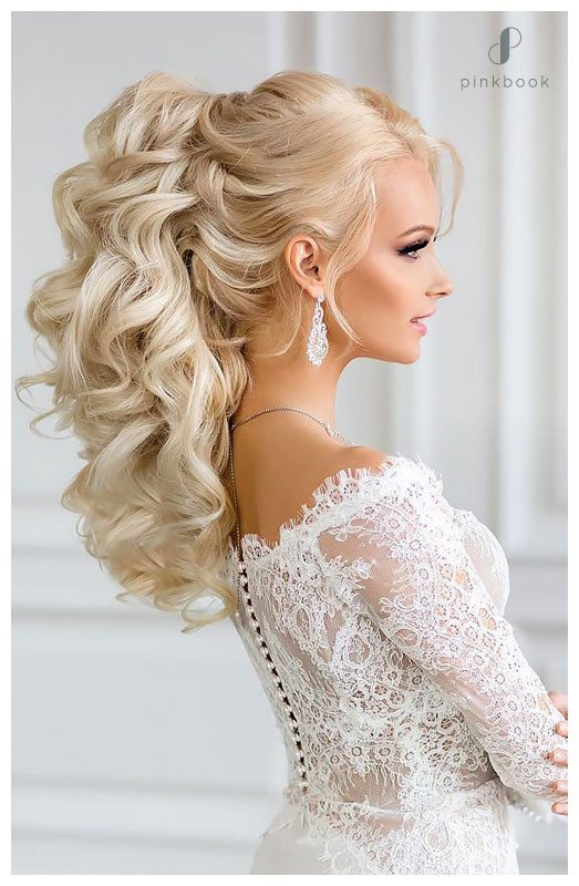 wedding hairstyle high ponytail