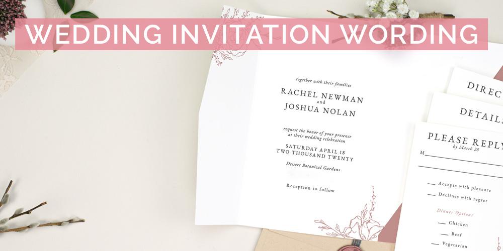 Wedding Invitation Wording L Free Examples Pink Book