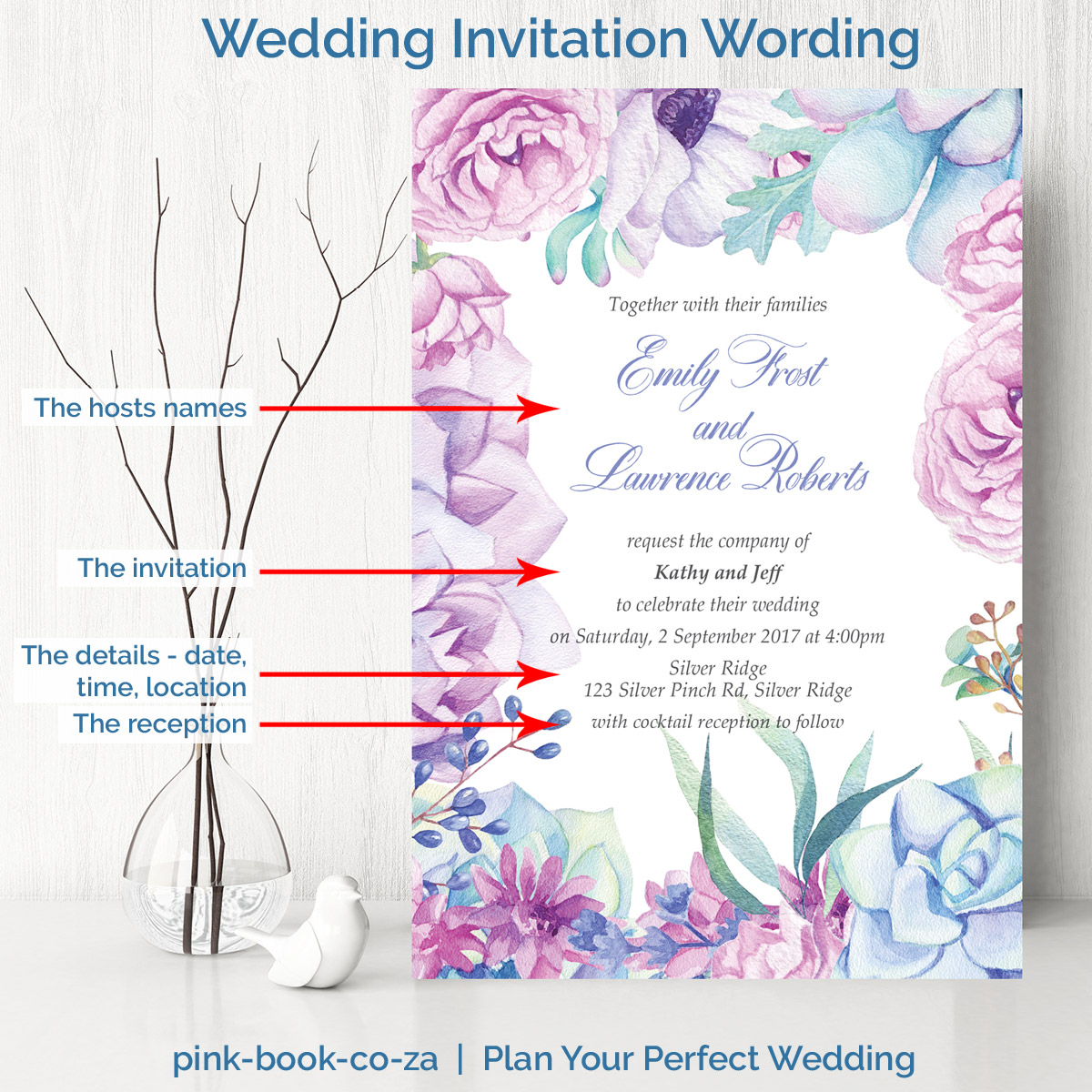 Wedding Invitation Wording L Examples Of What To Say In A