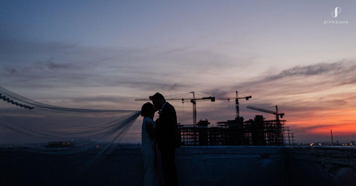 wedding photo shoots at sunset