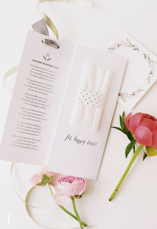 Wedding Programs with Tissues
