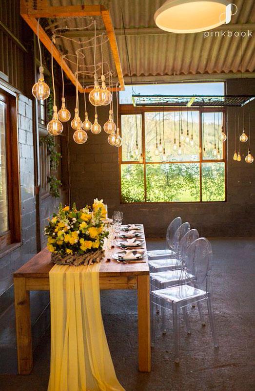 yellow wedding decor and flower ideas