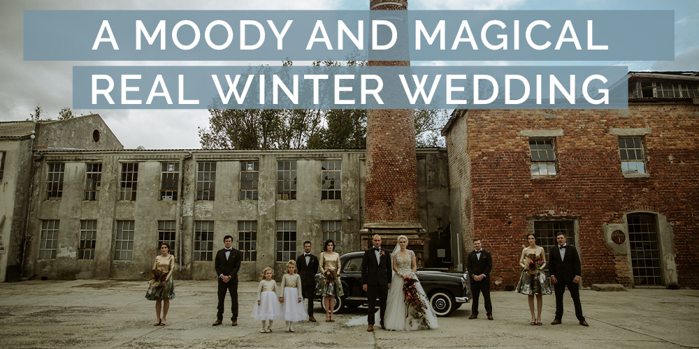A Moody and Magical Real Winter Wedding