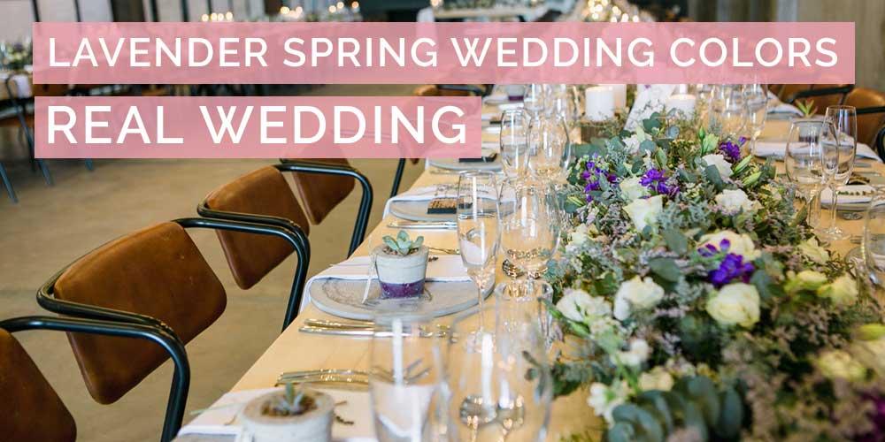 Lavender Spring Wedding Colors Real Wedding