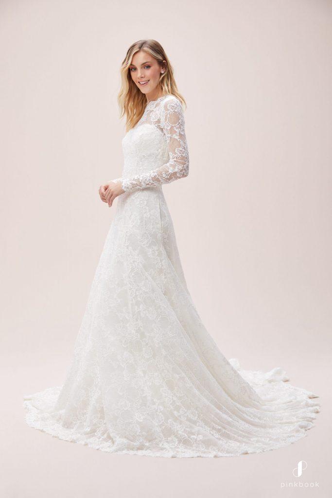 Jenny Packham Bridal Spring 2020 Fashion Show Short Sleeve Wedding Dress Jenny Packham Wedding Dresses Lacy Wedding Dresses