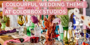 Colourful Wedding Theme at Colorbox Studios